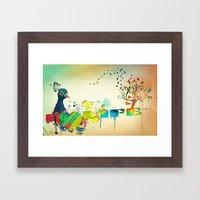 I Heart Life Framed Art Print
