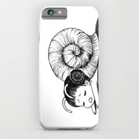 iPhone & iPod Case featuring Snail girl by Freeminds
