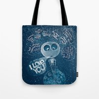 Tote Bag featuring I love you by Ruta13