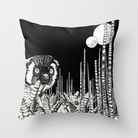 UZU JUNGLE : MOONS & THE… Throw Pillow