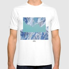 Falling. White SMALL Mens Fitted Tee