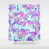 Maui Palm {Pink} Shower Curtain