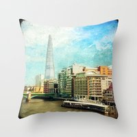 The Shard And The Thames… Throw Pillow