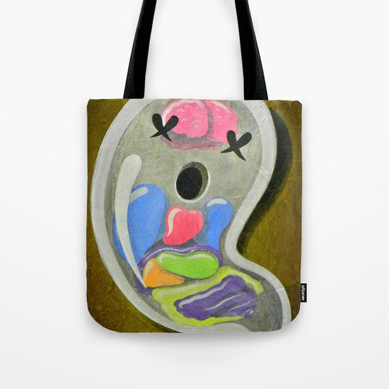 """""""Mr. Ghostee(the living ghost)"""" Tote Bag"""