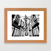 Cities in Black - San Francisco Framed Art Print