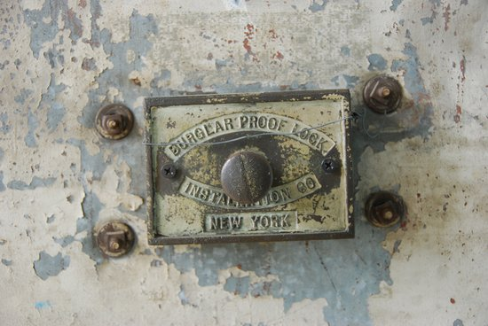 DUMBO Loft Door Lock-Brooklyn, New York Art Print