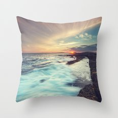 Setting Over Surf Throw Pillow