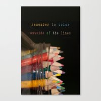 Color Outside Of The Lin… Canvas Print