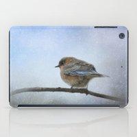 Bluebird In The Snow iPad Case