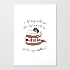 Nutella Ho Hey Canvas Print