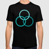 THE BOUND Mens Fitted Tee Black SMALL