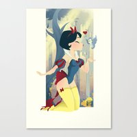 Snow White Pin Up Canvas Print