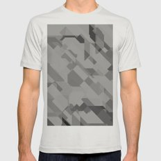 Graphites Mens Fitted Tee Silver SMALL