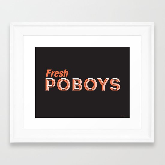 Fresh Poboys Framed Art Print