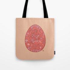 Red Mechanical Egg Tote Bag