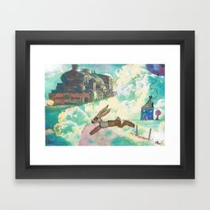 Run Bertie Framed Art Print