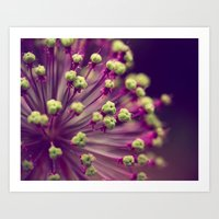 Purple and Lime Green Art Print