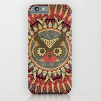 iPhone & iPod Case featuring Vintage Owl by UvinArt