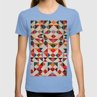 loudcolors Womens Fitted Tee Tri-Blue SMALL