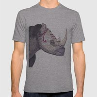 Rhino Mens Fitted Tee Athletic Grey SMALL