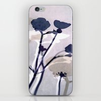 abstract florals  ~ color option deep blue iPhone & iPod Skin