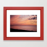 Sunset at the Lake Framed Art Print