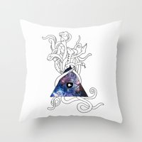 Space Snakes Throw Pillow