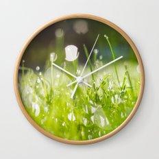 grassy morning Wall Clock