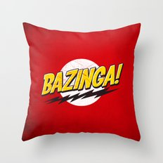 Bazinga Flash Throw Pillow