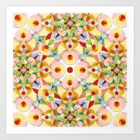 Pastel Carousel II Art Print