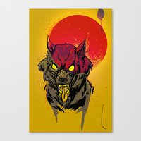 Red Moon Rising Canvas Print