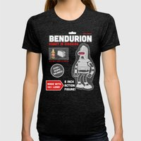 Bendurion: Robot In Disg… Womens Fitted Tee Tri-Black SMALL