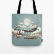 Tote Bag featuring Ocean Meets Sky by Terry Fan