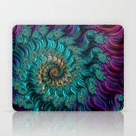 Aqua Swirl Laptop & iPad Skin