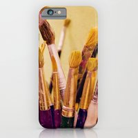 iPhone & iPod Case featuring Paintbrushes by Around the Island (Robin Epstein)