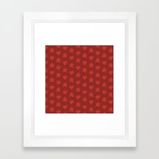 KAWAII GAME (RED) Framed Art Print