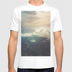 The sky Mens Fitted Tee White SMALL
