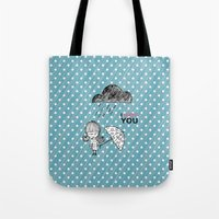 I Hate You / Rain Tote Bag