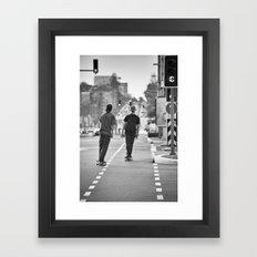 Skateboarding. Framed Art Print