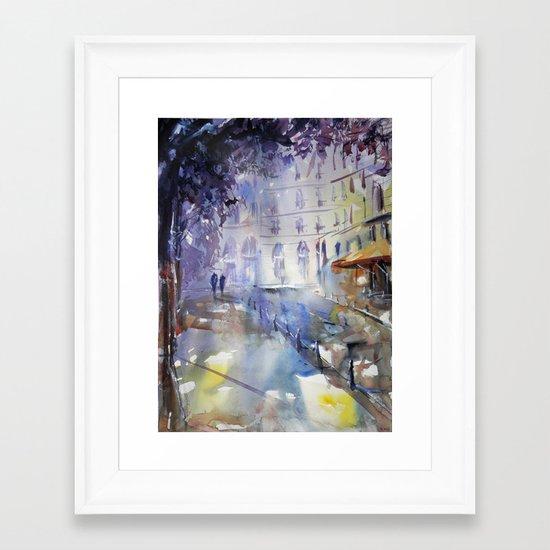Promenade à l'ombre Framed Art Print