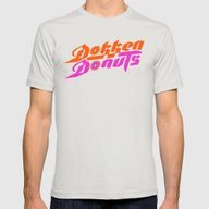 Dokken Donuts Mens Fitted Tee Silver SMALL