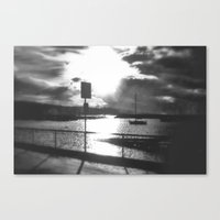 Morning Awakes The Harbo… Canvas Print