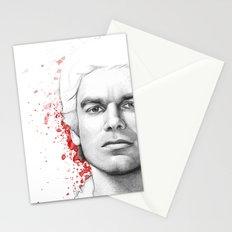 Dexter Morgan Portrait, Blood Splatters Stationery Cards