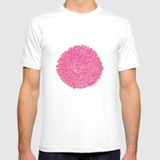 Pink Chrysanthemum  Mens Fitted Tee White SMALL