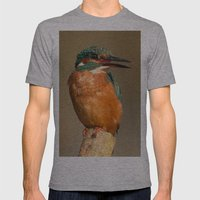 Kingfisher Mens Fitted Tee Athletic Grey SMALL