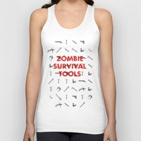 Zombie Survival Tools - Pattern 'o tools Unisex Tank Top