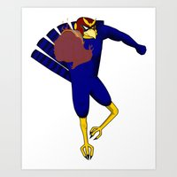 Captain Falcon Art Print