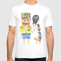 Omens Mens Fitted Tee White SMALL