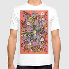 Flowers SMALL Mens Fitted Tee White