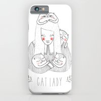 cat lady iPhone 6 Slim Case